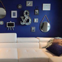 Mueble de salón blanco